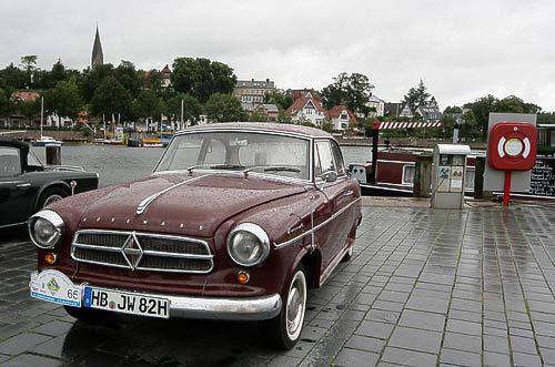 Borgward Isabella am Museumshafen von Eckernförde