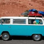 Volkswagen Bus T 2 als Camping-Fahrzeug in Utah, USA