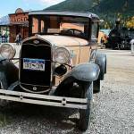 Ford Modell A in der ehemaligen Minenstadt Silverton, Rocky Mountains, Colorado