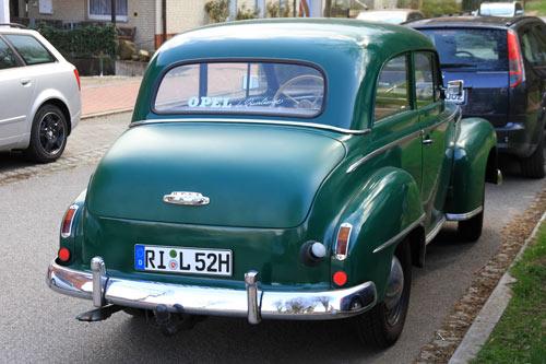 Opel Olympia Baujahr 1952 - Heckansicht
