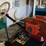 Volant und 'Armaturenbrett' des Ford T Speedster