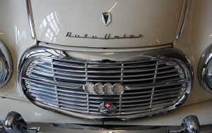 Der Kühlergrill des DKW Auto Union 1000 S de Luxe Coupé