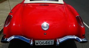 Heckansicht der Corvette C 1