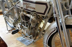 Detailansicht einer Harley-Davidson von 1915