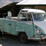 Wrack eines VW-Samba-Busses in den USA