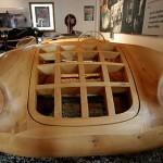 Holzmodell zur Karrosseriefertigung des Porsche 550 Spyder