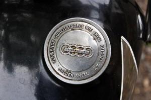 Der originale Tankdeckel der DKW-Maschine