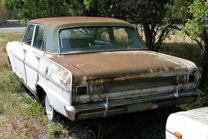 Der Rost macht ein eher schlichtes Design so richtig attraktiv - Chevy II/Nova