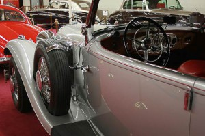 Cockpit mit Reserverad - Mercedes-Benz 500 K