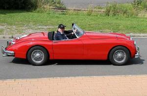 Mit dem Jaguar XK 150 im schönen Lipper Land gepflegt unterwegs