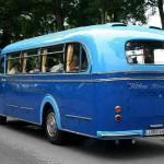 Typische Heckansicht von Omnibussen der Fünfziger Jahre