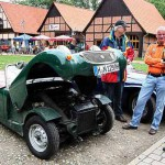 Austin Healey Sprite Mk. 1 - hochgeklappte Motorhaube